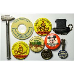 Advertising Pinbacks and Other Items  (114830)