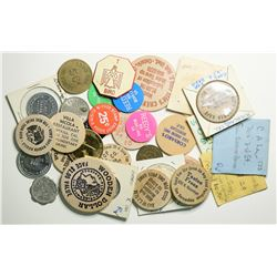 Wood Nickel collection and various tokens from Southern California  (109016)