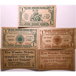 Wooden Nickel Currency  (114404)