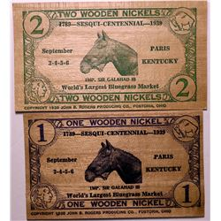 Wooden Nickel flats from Paris, Kentucky  (114426)