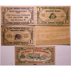 Wooden Nickel Currency  (114401)