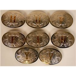 8 Nevada Silver Belt Buckles   (115613)
