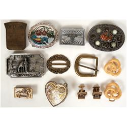 Vintage costume jewelry Belt buckles and cuff links (lot 20)  (114798)