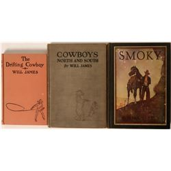 Three Cowboy Books by Will James  (115254)