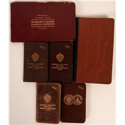 "Group of Leatherbound Diaries, most miniature 2""x 3""  (115720)"