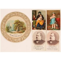 Rare Place Name Trade Cards (4)  (116547)