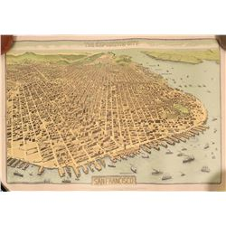 Pan Pacific Exposition Birds-Eye View Map (Reproduction)  (115328)