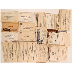 Vintage Business Cards (Mostly California)  (113158)