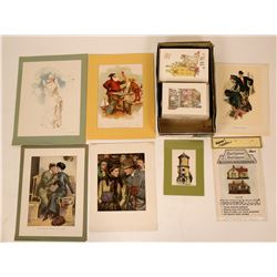 Dollhouse Prints and related items, set of Victorian House Pop Up Cards, 4 boxes of Christmas cards