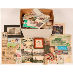 Large Lot US Paper and Other Collectibles  (117064)