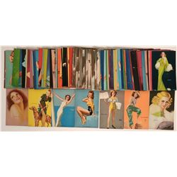 Pin-up Cards, Chipboard, colored illustrated pin up girls about 70 mutoscope  cards  (115687)