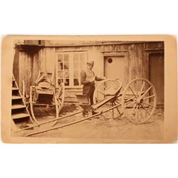 Antique Photo -  Buggy Maker CDV  (115681)
