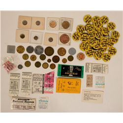 Dealer Lot of Tokens and Button Pins  (116403)