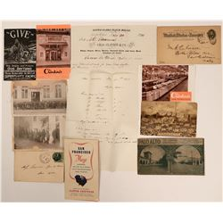 California Bay Area Postal History Ephemera  (112645)