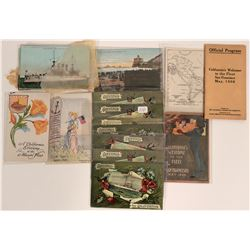 Post Card Goup - Battleships and Fleets about 40 cards California Welcome of Fleet 1908  (115686)