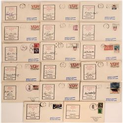 Military Mail -United States, Signed 1973-1974 Postmarked Envelopes Naval groups  (115677)