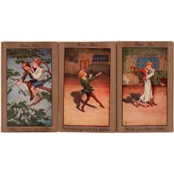 3 Peter Pan Postcards by Barham, C.W. Faulkner, London  (111556)