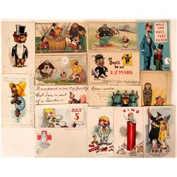 Comic Characters Postcards (14)  (111562)
