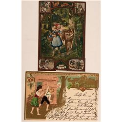 Hanzel and Gretel Postcards- foreign; antique  (115667)