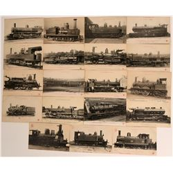 Old Postcards - Trains, railroads real photos , chipboard  (115671)