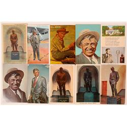 Will Rogers Postcard Group (10)  (111551)