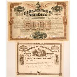 Pennsylvania RR stock/bond  (114485)