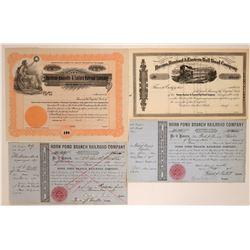 Illinois, Massachusetts and Tennessee RR stock  (114463)