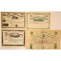Ohio, New York, Vermont RR stock/bond  (114874)