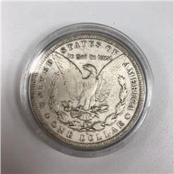 1880 Morgan Silver Dollar Counterstamped