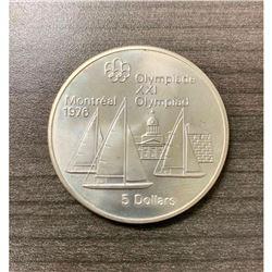 5 Dollars - Elizabeth II Kingston and Sailboats