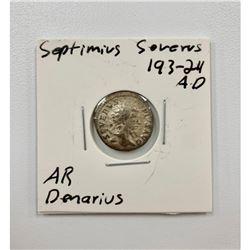 Septimius Severus 193-24 A.D - Silver Denarius