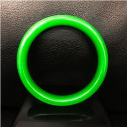 Solid Green Nephrite Jade Bangle