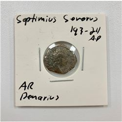 Septimius Severus 193-211 A.D - Silver Denarius