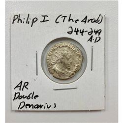 Philip I 244-249 A.D - Silver Double Denarius
