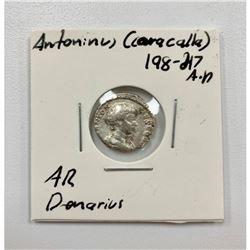 Antoninus(Caracalla) 198-217 A.D - Silver Denarius