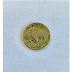 "5 Cents ""Buffalo Nickel"" flat ground"