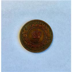 1864 New Brunswick Short 6 1 Cent - Victoria