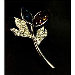 Contemporary, designer branch motif brooch.
