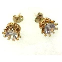 Wedding Stud Earrings 18 Karat Gold Plated