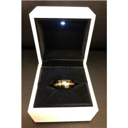 Ladies Titanium Black And Gold Engagement Ring