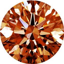 African Natural Orange Cognac Diamond - Round - VVS2-VS1 - Extra Fine Grade