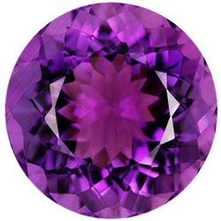 Rich Midnight Purple Natural Amethyst - Round Cut Graded AAA - Brazil Mined