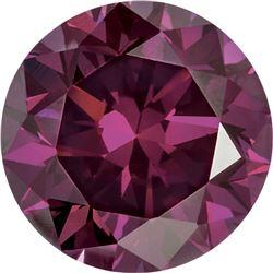 Natural African Rich Purple Diamond - Round Cut -