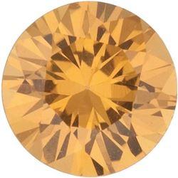 Round Cut Natural Amber Yellow Sapphire - Extra Fine AAA+ Grade - Sri Lanka Mined
