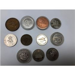 Lot Of 11 Canadian Memorial / Anniversary Coins