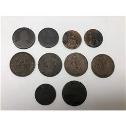 Lot Of 10 Assorted Foreign Coins