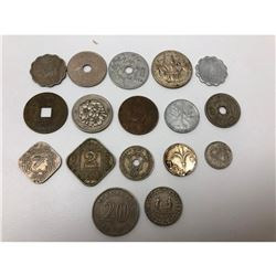 Lot Of 17 Assorted Foreign Coins