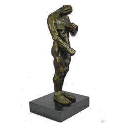 "Modern Art Abstract Sculpture Surreal Bronze Figure Monster Creature on Marble Base 12"" x 5"""