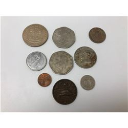 Lot Of 9 Mexican Centavos And Peso Coins