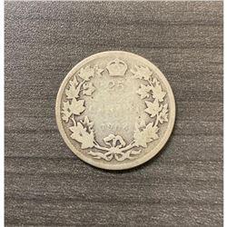 1904 25 Cents - Edward VII